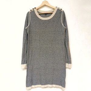 Gap Knit Sweater Dress, Heather Grey and White,